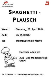 Spaghettiplausch 2014