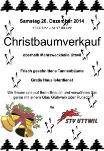 Christbaumverkauf 2014